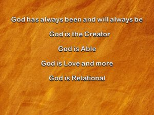 Attributes of God Church PowerPoint